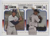 Robinson Cano, Rod Carew