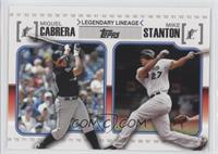 Miguel Cabrera, Giancarlo Stanton (Mike on Card)