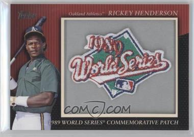 2010 Topps - Manufactured Commemorative Patch #MCP56 - Rickey Henderson