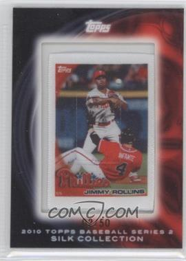 2010 Topps - Silk Collection #JIRO - Jimmy Rollins /50
