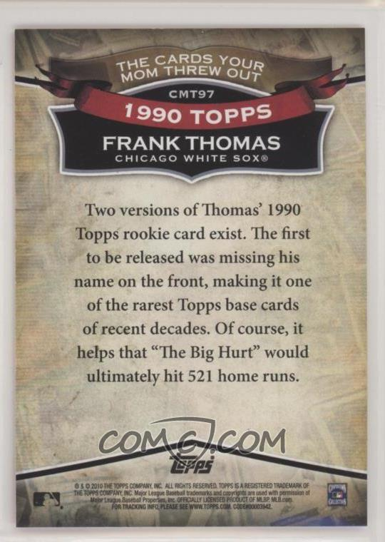 2010 Topps The Cards Your Mom Threw Out Cmt97 Frank