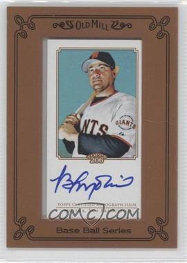 2010 Topps 206 - [Base] - Mini Old Mill Framed Autographs [Autographed] #TA-BM - Bengie Molina