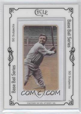 2010 Topps 206 - [Base] - Silk Mini Cycle Framed #BARU - Babe Ruth /50