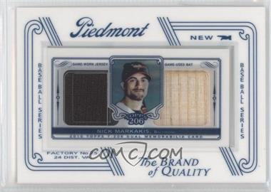2010 Topps 206 - Mini Book Relic - Mini Framed #DR-NM - Nick Markakis /99