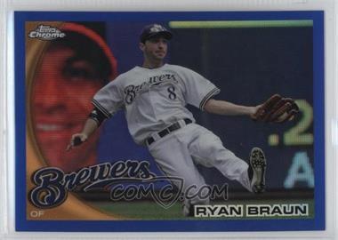2010 Topps Chrome - [Base] - Blue Refractor #137 - Ryan Braun /199