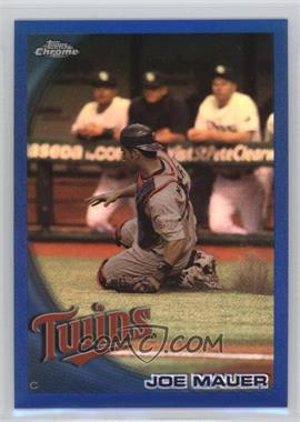 2010 Topps Chrome - [Base] - Blue Refractor #50 - Joe Mauer /199