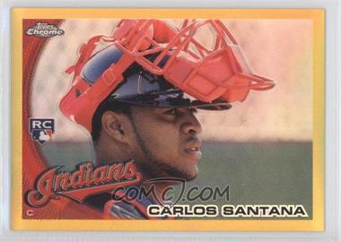 2010 Topps Chrome - [Base] - Gold Refractor #198 - Carlos Santana /50