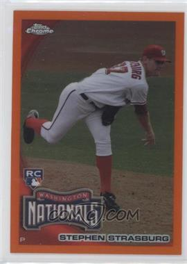 2010 Topps Chrome - [Base] - Orange Refractor #212 - Stephen Strasburg
