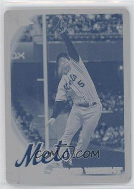 2010 Topps Chrome - [Base] - Printing Plate Cyan #22 - David Wright /1