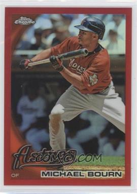 2010 Topps Chrome - [Base] - Red Refractor #131 - Michael Bourn /25
