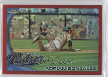 2010 Topps Chrome - [Base] - Red Refractor #25 - Adrian Gonzalez /25