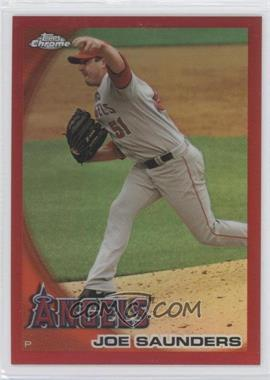2010 Topps Chrome - [Base] - Red Refractor #26 - Joe Saunders /25