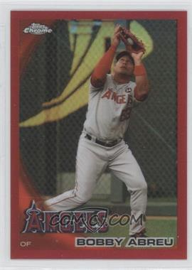2010 Topps Chrome - [Base] - Red Refractor #4 - Bobby Abreu /25