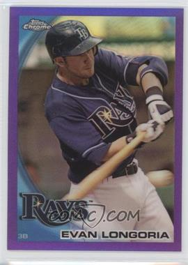 2010 Topps Chrome - [Base] - Retail Purple Refractor #141 - Evan Longoria /599
