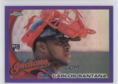 2010 Topps Chrome - [Base] - Retail Purple Refractor #198 - Carlos Santana /599
