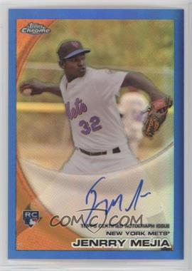 2010 Topps Chrome - [Base] - Rookie Autographs Blue Refractor #200 - Jenrry Mejia /199