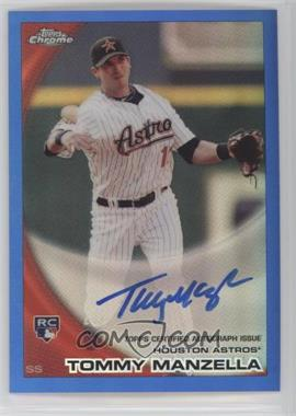 2010 Topps Chrome - [Base] - Rookie Autographs Blue Refractor #207 - Tommy Manzella /199