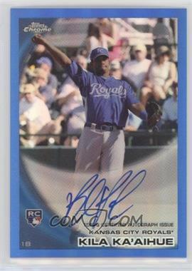 2010 Topps Chrome - [Base] - Rookie Autographs Blue Refractor #215 - Kila Ka'aihue /199