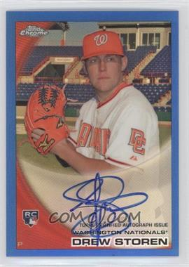 2010 Topps Chrome - [Base] - Rookie Autographs Blue Refractor #216 - Drew Storen /199