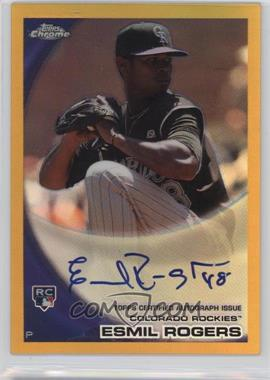 2010 Topps Chrome - [Base] - Rookie Autographs Gold Refractor #183 - Esmil Rogers /50