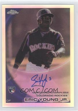 2010 Topps Chrome - [Base] - Rookie Autographs Refractor #171 - Eric Young Jr. /499