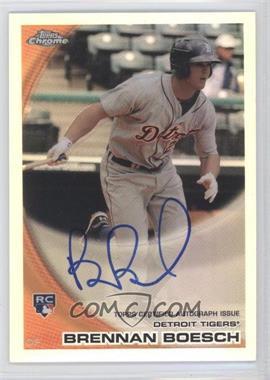 2010 Topps Chrome - [Base] - Rookie Autographs Refractor #182 - Brennan Boesch /499