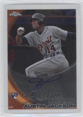 2010 Topps Chrome - [Base] - Rookie Autographs #177 - Austin Jackson