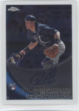 2010 Topps Chrome - [Base] - Rookie Autographs #189 - Wilson Ramos