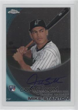 2010 Topps Chrome - [Base] - Rookie Autographs #190 - Giancarlo Stanton
