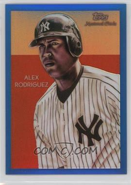 2010 Topps Chrome - National Chicle Chrome - Blue Refractor #CC21 - Alex Rodriguez /199