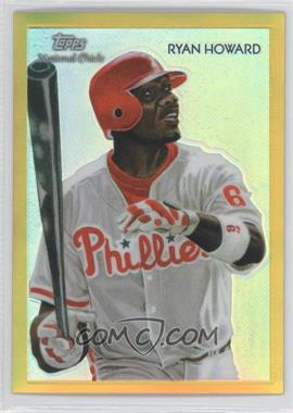 2010 Topps Chrome - National Chicle Chrome - Gold Refractor #CC13 - Ryan Howard /50