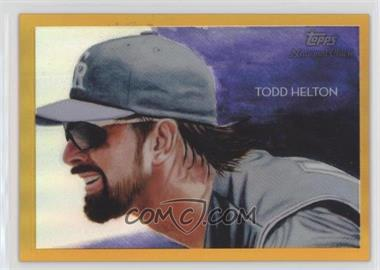2010 Topps Chrome - National Chicle Chrome - Gold Refractor #CC34 - Todd Helton /50