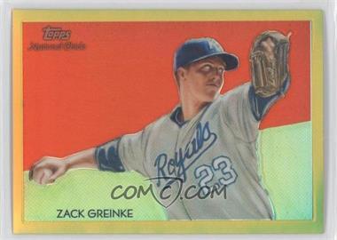 2010 Topps Chrome - National Chicle Chrome - Gold Refractor #CC38 - Zack Greinke /50