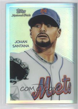 2010 Topps Chrome - National Chicle Chrome - Refractor #CC22 - Johan Santana /499
