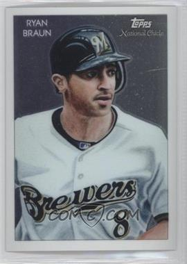 2010 Topps Chrome - National Chicle Chrome #CC30 - Ryan Braun /999