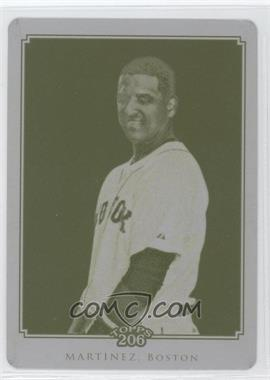 2010 Topps Chrome - Topps 206 Chrome - Printing Plate Yellow #TC35 - Victor Martinez /1