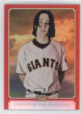 2010 Topps Chrome - Topps 206 Chrome - Red Refractor #TC46 - Tim Lincecum /25