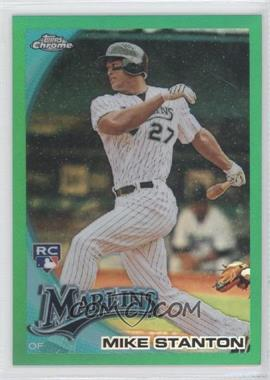 2010 Topps Chrome - Wrapper Redemption [Base] - Green Refractor #190 - Mike Stanton /599