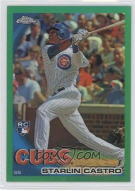 2010 Topps Chrome - Wrapper Redemption [Base] - Green Refractor #195 - Starlin Castro /599