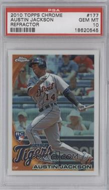 2010 Topps Chrome - Wrapper Redemption [Base] - Refractor #177 - Austin Jackson [PSA 10]