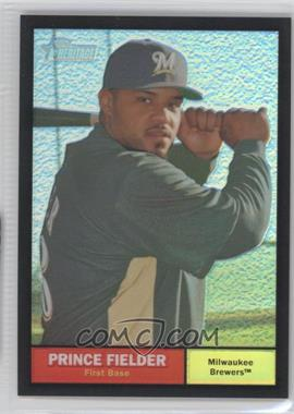 2010 Topps Heritage - [Base] - Chrome Black Refractor #C41 - Prince Fielder /61