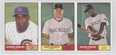 2010 Topps Heritage - Boxloader Ad Panel #ASCIDF - Alfonso Soriano, Chris Iannetta, Dexter Fowler