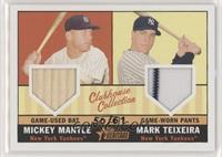 Mickey Mantle, Mark Teixeira #/61
