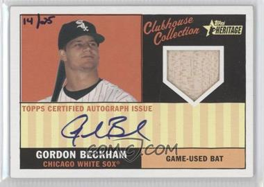 2010 Topps Heritage - Clubhouse Collection Relic - Autograph [Autographed] #CCAR-GB - Gordon Beckham /25