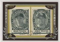 Mark DeRosa, James Shields #/50