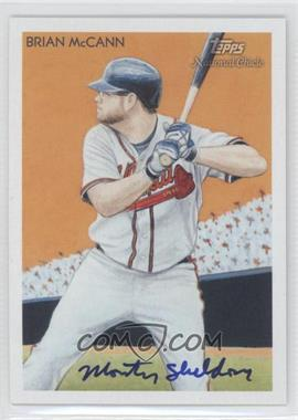 2010 Topps National Chicle - [Base] - Artist Proof Artist Autograph [Autographed] #123 - Brian McCann (Monty Sheldon) /10