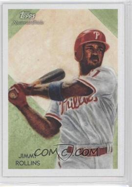 2010 Topps National Chicle - [Base] - Black Umbrella Logo Back #157 - Jimmy Rollins /25