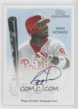 2010 Topps National Chicle - Certified Autograph - Bazooka Back [Autographed] #NCA-RH - Ryan Howard /99