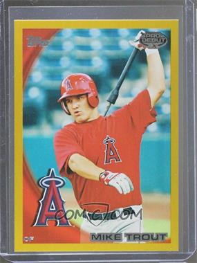 2010 Topps Pro Debut - [Base] - Gold #181 - Mike Trout /50