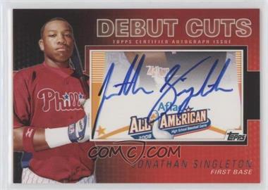 2010 Topps Pro Debut - Debut Cuts Cut Autographs - [Autographed] #DC-JS - Jonathan Singleton /106
